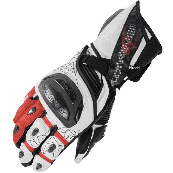 【メーカー在庫あり】 GK-235 コミネ KOMINE 2020年春夏モデル チタニウムレーシンググローブ 白/赤 Lサイズ 06-235 HD店