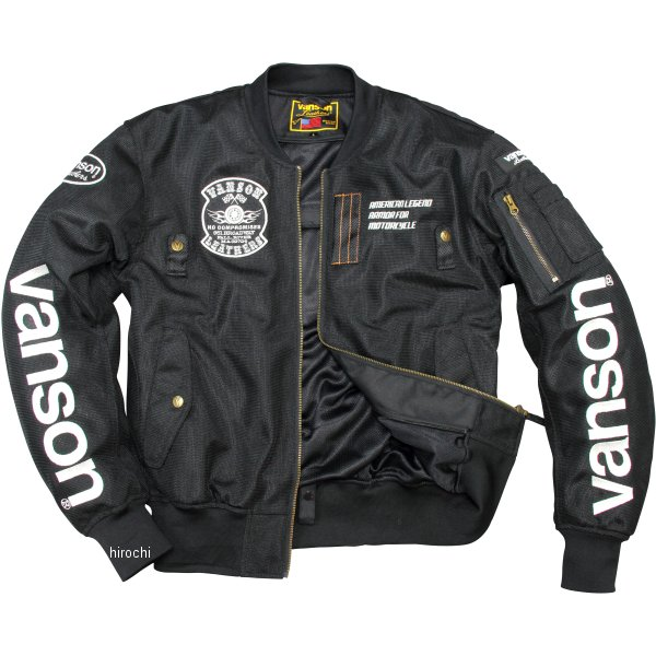 バンソン VANSON 2020年春夏モデル メッシュジャケット 黒/白 Mサイズ VS20102S HD店