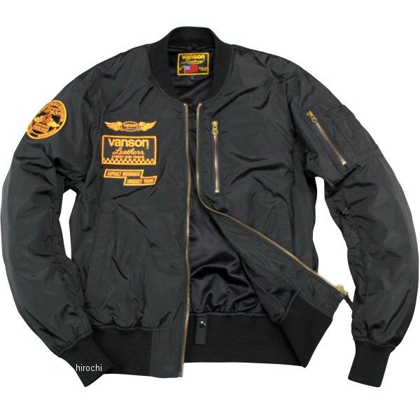 バンソン VANSON 2020年春夏モデル ナイロンジャケット 黒/イエロー XLサイズ VS20104S HD店