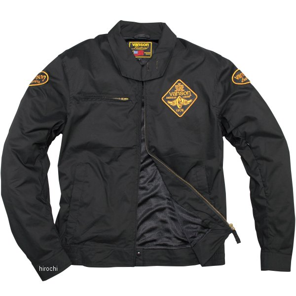 バンソン VANSON 2020年春夏モデル ナイロンジャケット 黒/イエロー Mサイズ VS20105S HD店