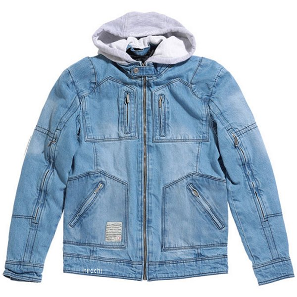 オーシャンパシフィック OP 2020年春夏モデル シングル ライダースジャケット デニムSINGLE M/C 青 Lサイズ OPVA2001SBLL HD店