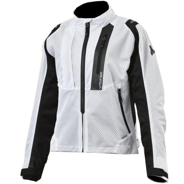 アーバニズム urbanism 2020年春夏モデル ライドメッシュジャケット レディース 白/黒 WSサイズ UNJ-078W HD店