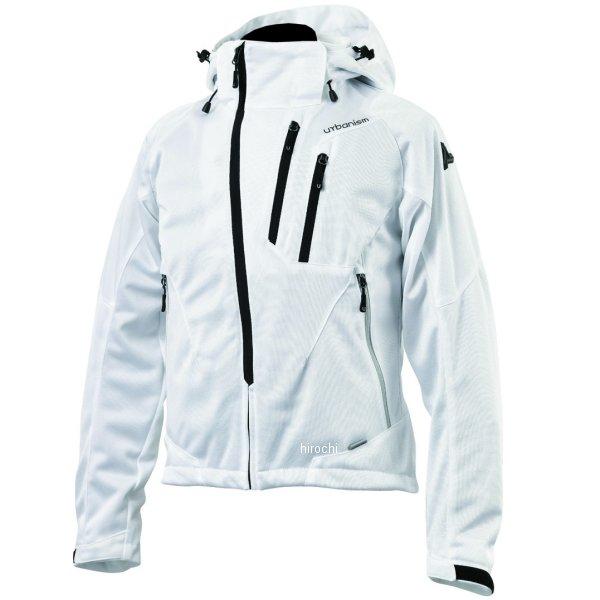 アーバニズム urbanism 2020年春夏モデル フードメッシュジャケット 白 3Lサイズ UNJ-079 HD店