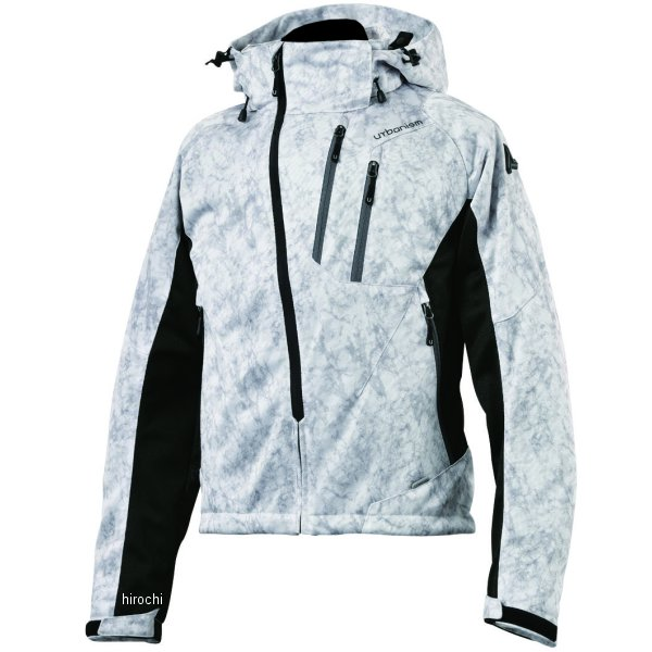 アーバニズム urbanism 2020年春夏モデル フードメッシュジャケット ライトグレーカモ 3Lサイズ UNJ-079 HD店