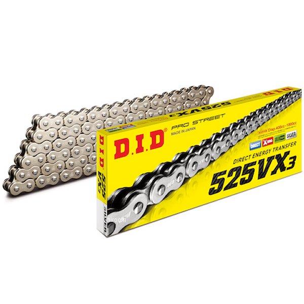 DID 大同工業 チェーン 525VX3シリーズ シルバー 124L クリップ 4525516398275 HD店