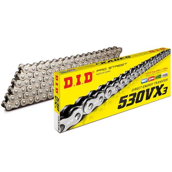 DID 大同工業 チェーン 530VX3シリーズ シルバー 100L クリップ 4525516462150 HD店