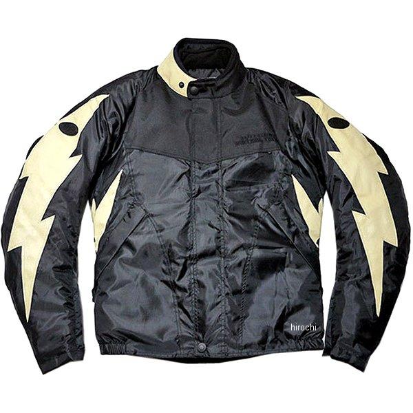 TFW1901 24/7 Custom Leathers ライトニングウィンタージャケット 黒/アイボリー XLサイズ TFW1901-BK-IV-XL HD店
