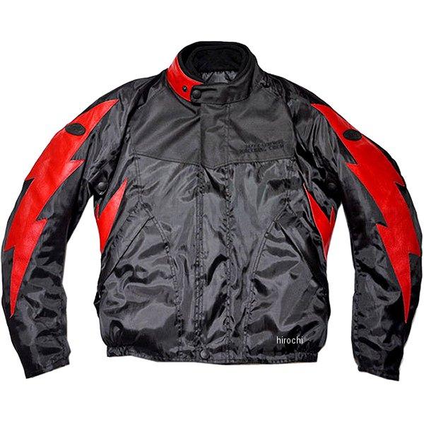 TFW1901 トゥエンティ・フォー・セブン カスタムレザース 24/7 Custom Leathers ライトニングウィンタージャケット 黒/赤 XLサイズ TFW1901-BK-RD-XL HD店