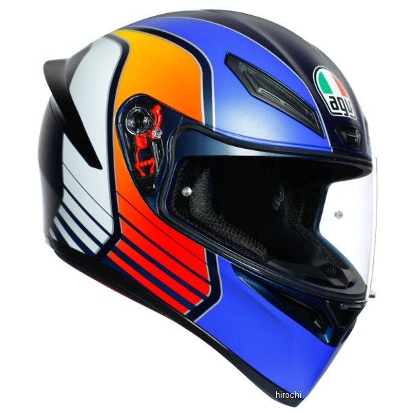 【メーカー在庫あり】 エージーブイ AGV フルフェイスヘルメット K1 パワーマットダークブルー/オレンジ/白 XLサイズ 028192IY008-XL HD店
