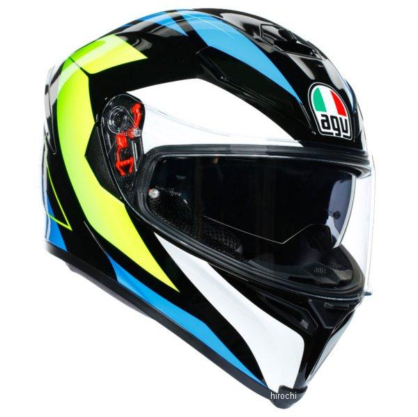エージーブイ AGV フルフェイスヘルメット K-5S MPLK コアブラック/シアン/蛍光黄 Lサイズ 004192MF001-L HD店