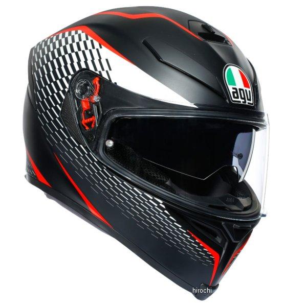 【メーカー在庫あり】 エージーブイ AGV フルフェイスヘルメット K-5S MPLK サンダーマットブラック/白/赤 Lサイズ 004192MF003-L HD店