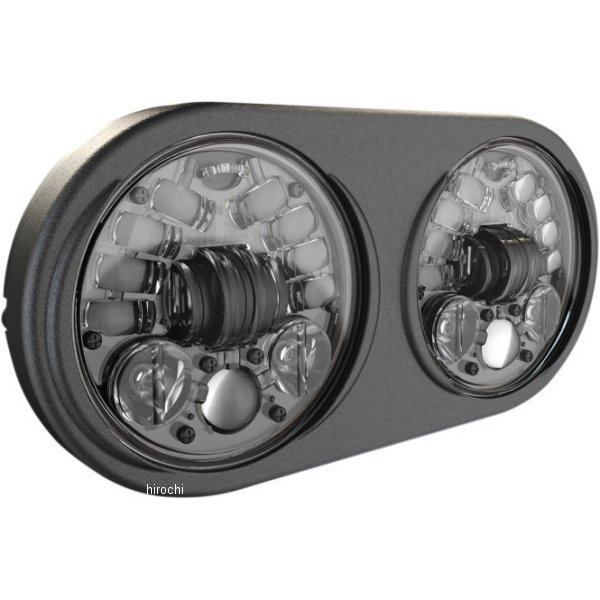 【USA在庫あり】 JWスピーカー J.W. Speake LED ヘッドライト 5.75インチ アダプティブ2 H4 FLTR 黒 2001-1783 HD店