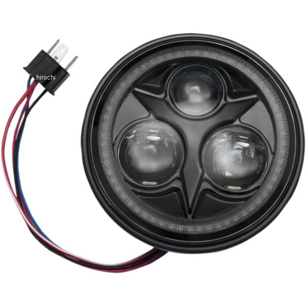 【USA在庫あり】 クリアキン Kuryakyn LED ヘッドライト 5.75インチ オービットビジョン ホワイトハロー 6,500K 2001-1799 HD店