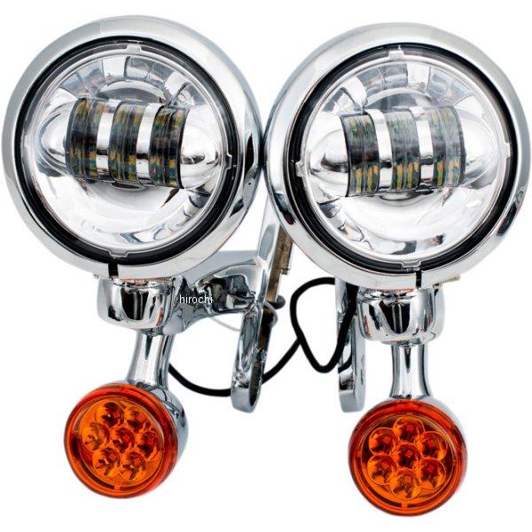 【USA在庫あり】 リブコ プロダクト RIVCO Products LED補助ライト4.5インチ/LEDウインカー付き クローム/クリア/アンバー 2020-1576 HD店