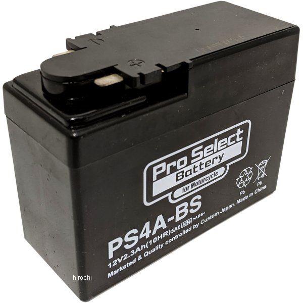 【メーカー在庫あり】 プロセレクト PROSELECT バイク用 バッテリー PS4A-BS YTR4A-BS互換 (液入充電済) 10個入り PSB039 HD店