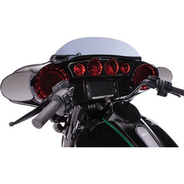 【USA在庫あり】 チロ CIRO LED付フロントスピーカーグリル 14年以降 FLH 黒 4405-0541 HD店