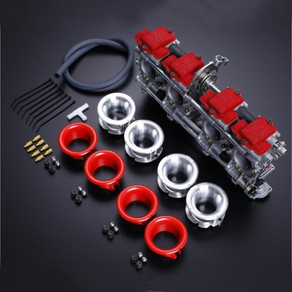 引出物 ヨシムラ FCR-MJN35キャブレター DUAL STACK FUNNEL仕様 HD店 シルバー メーカー在庫限り品 Z1 769-291-4500