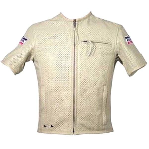 1097 カドヤ KADOYA パンチングレザーTシャツ アイボリー Lサイズ 1097-IV-L HD店