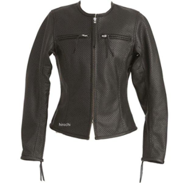 1096 カドヤ KADOYA パンチングレザージャケット レディース 黒 Mサイズ 1096-BK-WL HD店