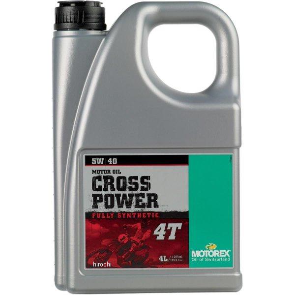 【USA在庫あり】 モトレックス MOTOREX 100%化学合成 4st エンジンオイル Cross Power 5W40 4リットル 980141 HD店