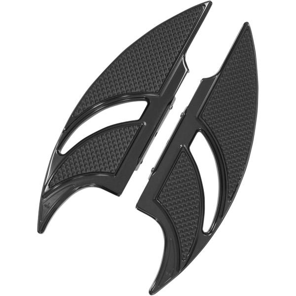 【USA在庫あり】 カールブロウハード Carl Brouhard Designs パッセンジャーフットボード エリートエッジ 黒 Rapture 1621-0650 HD店