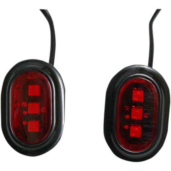 【USA在庫あり】 カスタム ダイナミクス LEDアンテナホールフィラー 06年以降 FLH 黒/赤 2040-1693 HD店