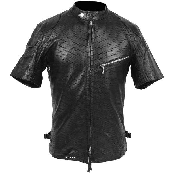 1124 カドヤ KADOYA パンチングレザーTシャツ 黒 LLサイズ 1124-BK-LL HD店