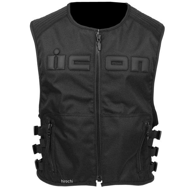 【USA在庫あり】 アイコン ICON ベスト BRIGAND 黒 L-XLサイズ 2830-0236 HD店