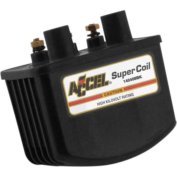 【メーカー在庫あり】 アクセル ACCEL コイル 3オーム シングルファイアー 電子イグニッション 黒 140408BK HD店