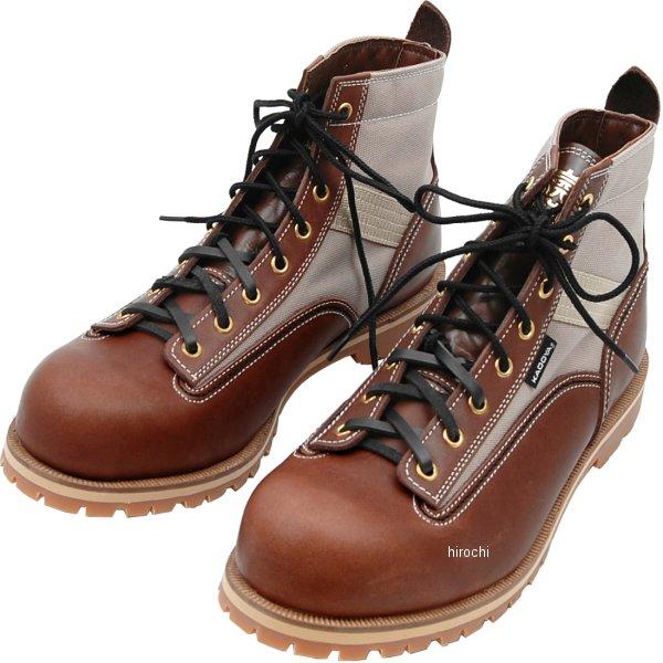 4326 カドヤ KADOYA ブーツ LOGGER LIGHT ブラウン/ベージュ 25cm 4326-BR/BEG-25 HD店