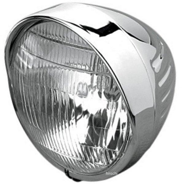 【USA在庫あり】 DS-280033 DRAG ヘッドライト 6.5インチ H4 55/60W スプリンガー バイザー付き 溝 クローム DS280033 HD店