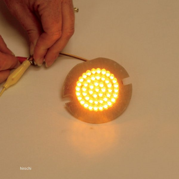 【USA在庫あり】 カスタム ダイナミクス LEDフロントウインカーインサート ダブル球仕様 フラット/アンバー 2060-0424 HD店
