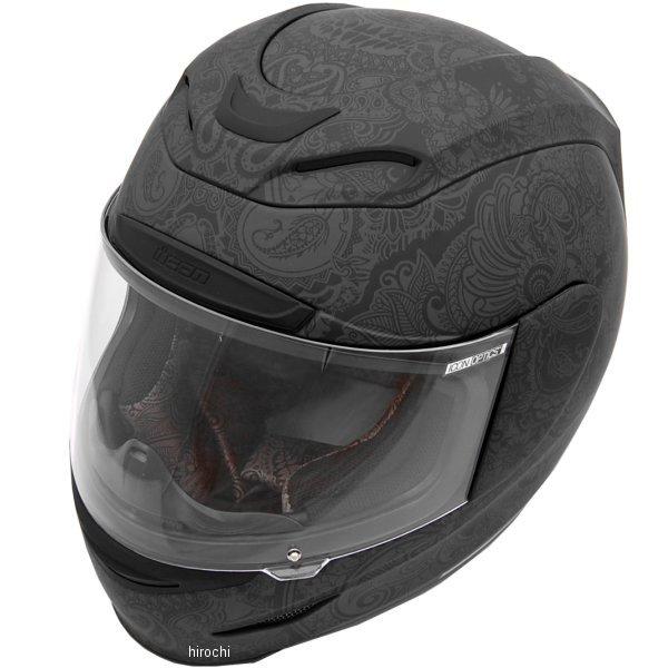 【USA在庫あり】 アイコン ICON フルフェイスヘルメット Airmada Chantilly 黒 2Xサイズ (63cm-64cm) 0101-7072 HD店