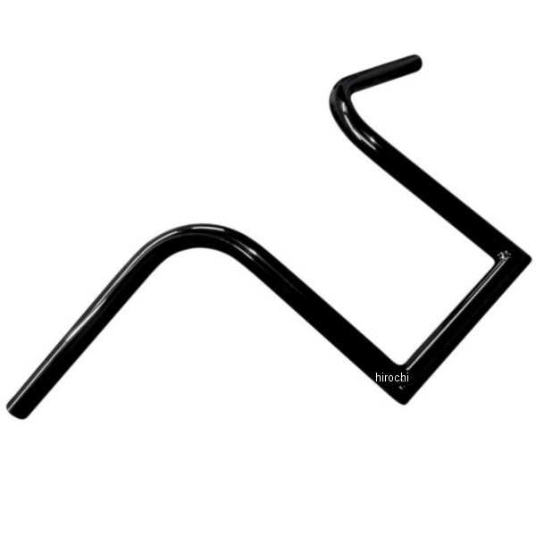 【USA在庫あり】 LAチョッパーズ LA Choppers 1インチ ハンドルバー ブルボンエイプハンガー 10インチ 黒(つや有り) 0601-2063 HD店