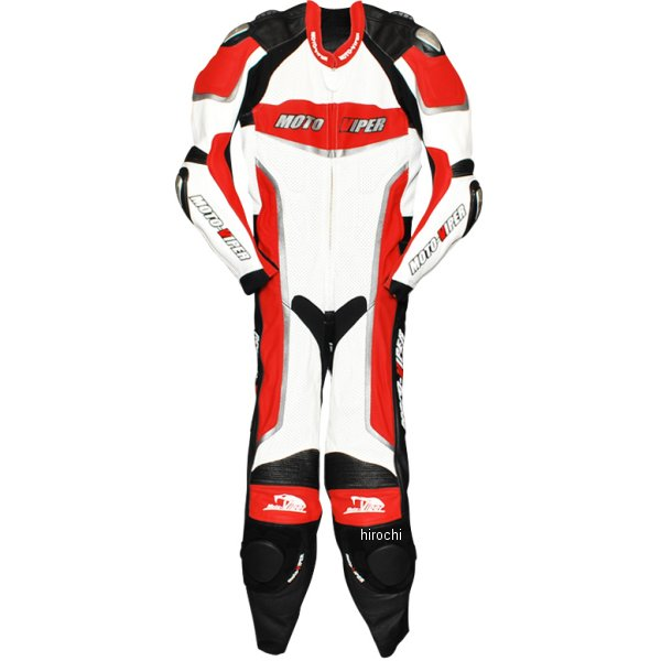 モトバイパー Moto-Viper レーシングスーツ 赤/白 LLサイズ MV-111 HD店