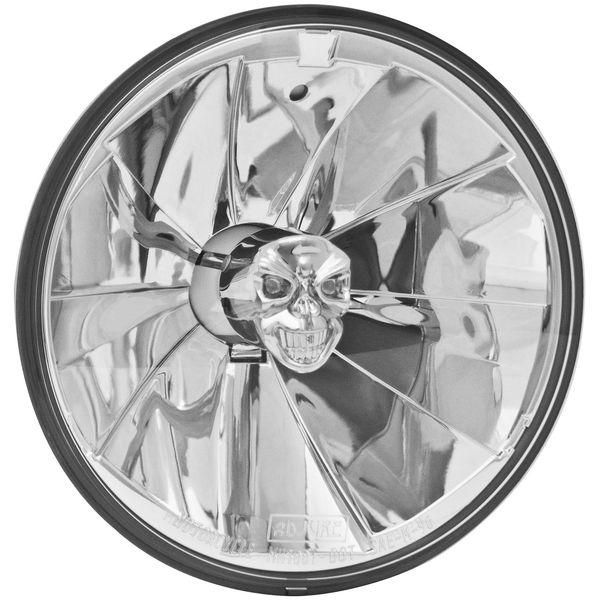 【USA在庫あり】 アジュール Adjure ヘッドライト 7インチ(178mm) H4 55/60W パイカット スカル 590446 HD店