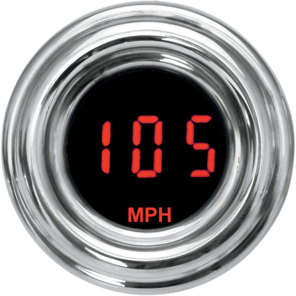【USA在庫あり】 ダコタデジタル Dakota Digital スピードメーター(MPH) 4000ミニ レトロ 赤 2210-0189 HD店