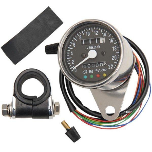 【USA在庫あり】 DRAG 2.37インチ(60mm) 2:1 機械式スピードメーター(180km/h) 黒 2210-0207 HD
