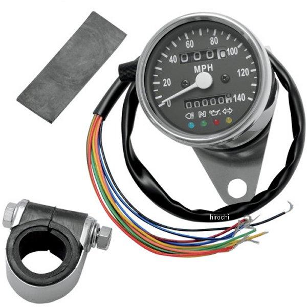 【USA在庫あり】 DRAG 機械式スピードメーター(140MPH) 2.37インチ(60mm) 2:1 黒 2210-0208 HD店
