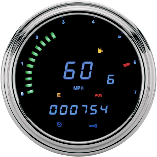 【USA在庫あり】 ダコタデジタル Dakota Digital マルチメーター(km/h、MPH) 2000 11年以降 CAN BUS 青LED 2210-0261 HD