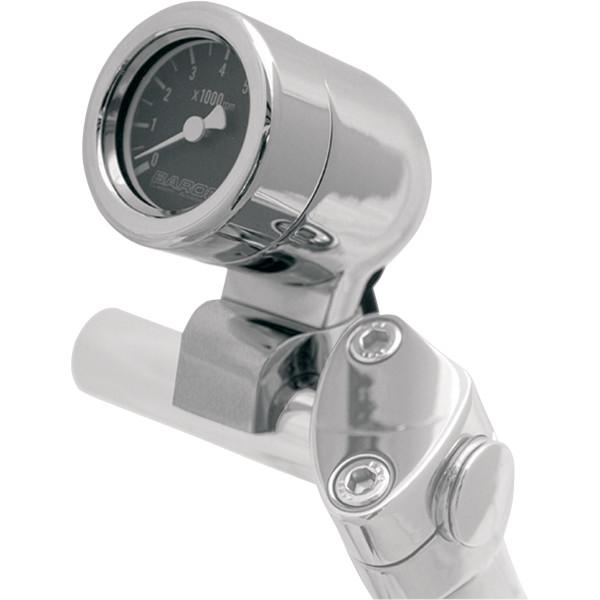 【USA在庫あり】 バロン BARON ミニ電子タコメーター 8000rpm 1インチ(25mm)バー 黒 2211-0060 HD店