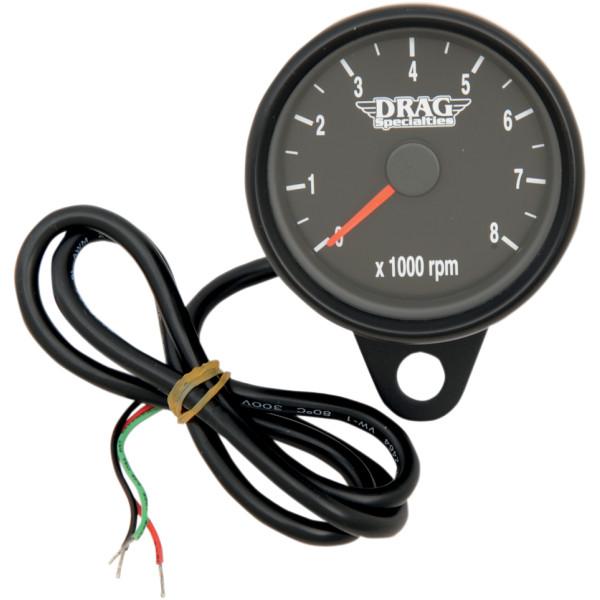 【USA在庫あり】 DRAG 電子タコメーター 8000rpm 黒ボディー/黒/オリジナル針 2211-0125 HD