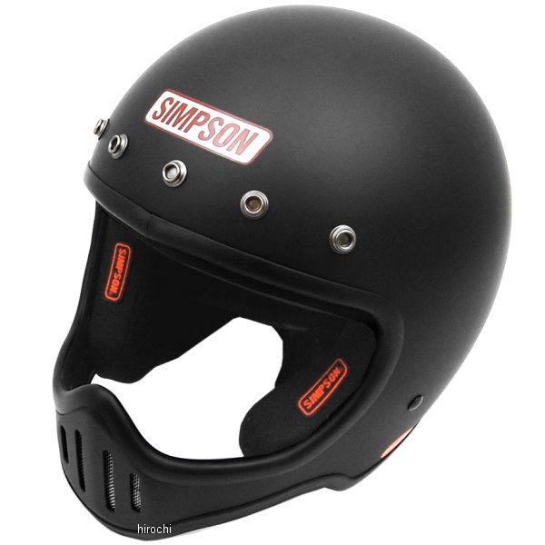 3309125758 シンプソン SIMPSON ヘルメット M50 黒(つや消し) 57cm-58cm 4562363242979 HD店