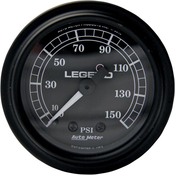 【USA在庫あり】 レジェンド LEGENDS 空気圧ゲージ 0-150psi フェアリング用 黒/黒 2212-0484 HD