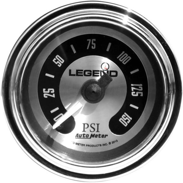 【USA在庫あり】 レジェンド LEGENDS 空気圧ゲージ 0-150psi フェアリング用 チタン/ライト 2212-0493 HD