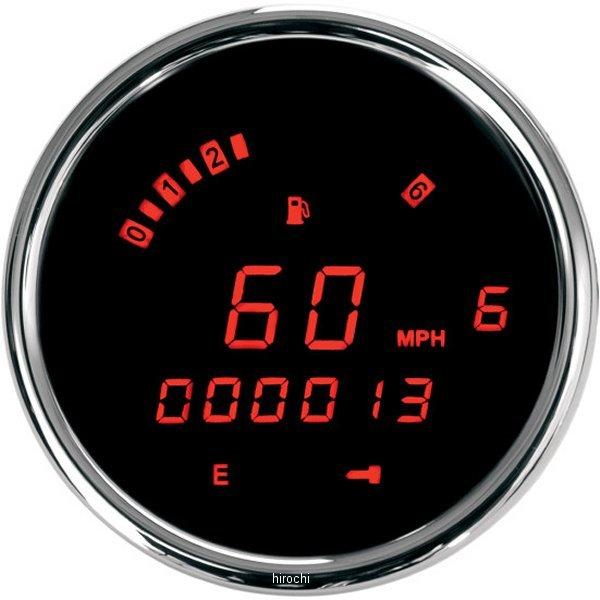【USA在庫あり】 ダコタデジタル Dakota Digital スピード/タコメーター(km/h、MPH) 3200 12年以降 FXDB 赤LED/クローム 211280 HD