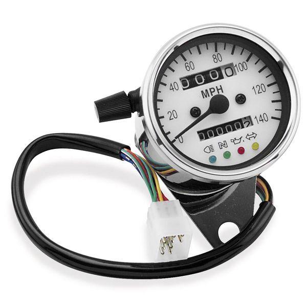 【USA在庫あり】 バイカーズチョイス Biker's Choice ミニ スピードメーター LEDインジケーター付き 490291 HD
