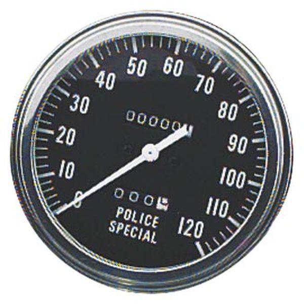 【USA在庫あり】 バイカーズチョイス Biker's Choice 5インチ スピードメーター 47年-61年 FL、FLH ポリススペシャル 491294 HD