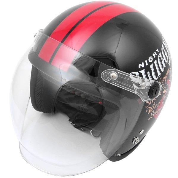 【メーカー在庫あり】 ナックルヘッド Knuckle Head ヘルメット PLAY BONES 黒/赤 フリーサイズ (57cm-60cm未満) RJ605 HD店
