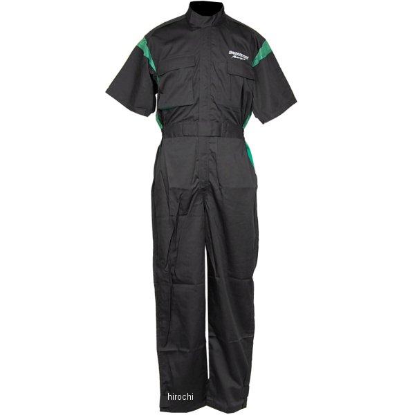 51609170 ブリヂストン BRIDGESTONE サマーピットクルースーツ ブリヂストン モータースポーツ エコパワー THE MOG 黒/緑 Mサイズ 5160 9170 HD店